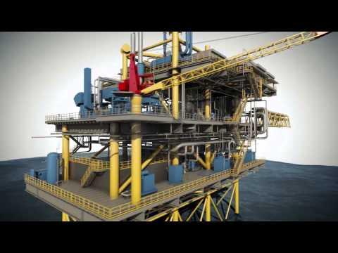 3DS Max Offshore Refinery Animation