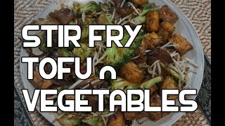 Stir Fry Tofu Vegetables Recipe Video - Wok Broccoli Beansprouts