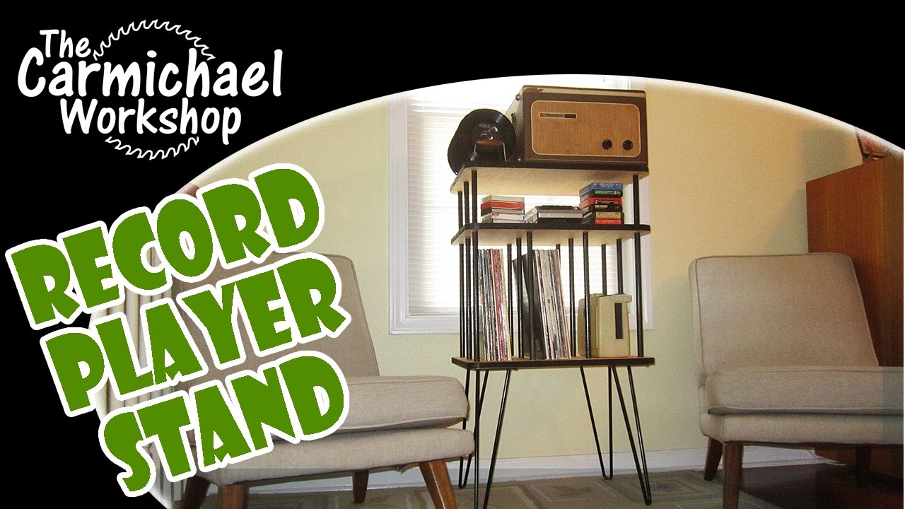 Make a 1950 39 s style record player stand with rockler i for Table stand i 52 compose