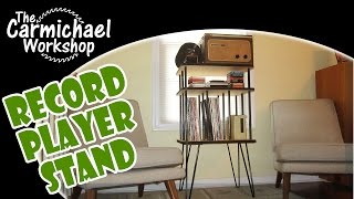 Make A 1950's Style Record Player Stand With Rockler I-semble Hairpin Table Legs