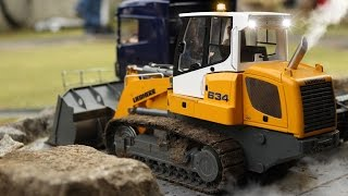 EPIC SCALE CONSTRUCTION SIDE  / RC EXCAVATOR AND DUMP TRUCKS IN ACTION / BRZEZINY 2016