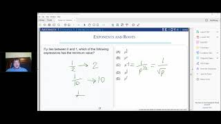 Explanation to a GRE Exponent Question by Anthony