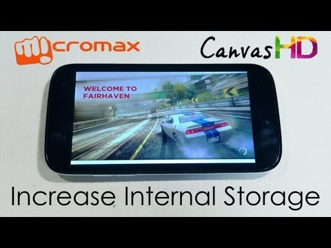 Micromax Canvas HD A116 - Install Games and Apps to SD Card (Swap Internal with Micro Sd)