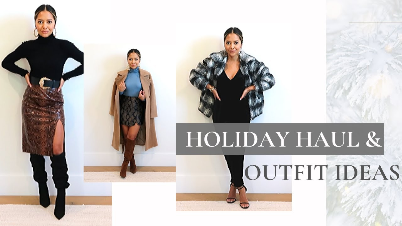 [VIDEO] - Holiday Haul & Outfit Ideas 2019 + Lookbook 1