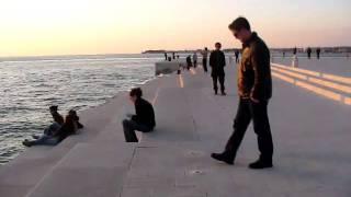 Sea Organ At Sunset, Zadar, Dalmatia, Croatia