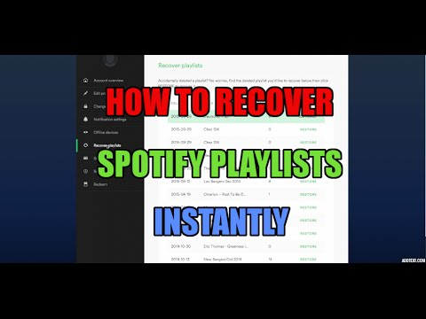 Recover Deleted Spotify Playlists Instantly