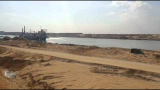Witness: Video exclusive first full 3 kilometers from the new Suez Canal southern sector