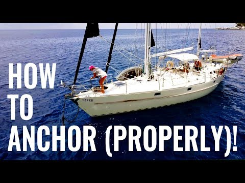 HOW TO ANCHOR A SAILBOAT - TIPS & ADVICE - Q&A 20