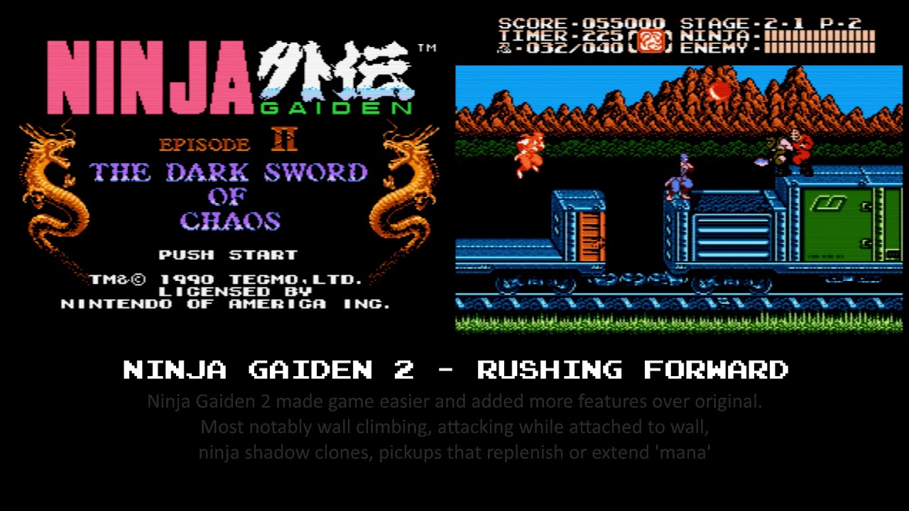 Ninja Gaiden 2 Nes Rushing Forward Youtube