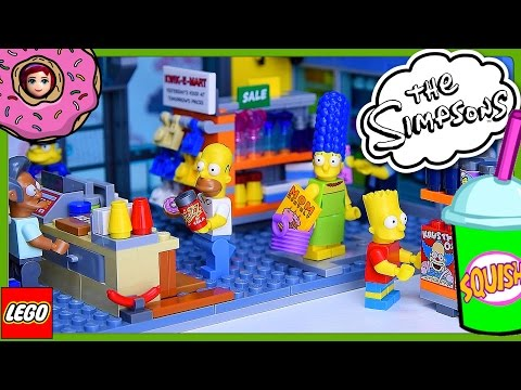 LEGO Simpsons Kwik-E-Mart Build Review Silly Play Part 2 - Kids Toys