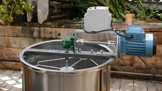 Motorized Honey Extractor