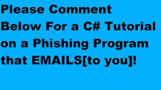 C# Email Sending Phishing Program!