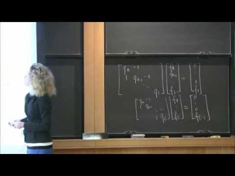 Zeros of polynomials via matrix theory and continued fractions - Olga Holtz