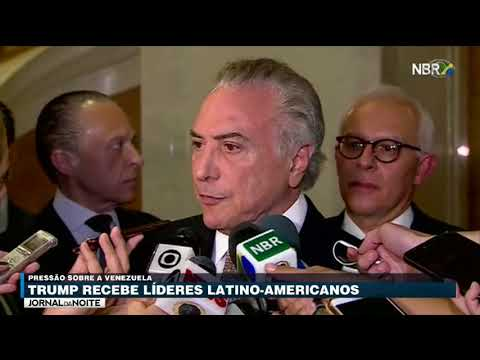 Presidente Americano Recebe Michel Temer Em Nova York