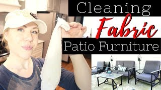 How To Clean Fabric Patio Cushions | Cleaning Motivation for Spring! | Outdoor Living Space