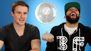 Men Feel Breast Implants For The First Time