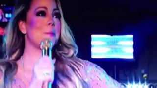 Mariah Carey 2017 New Years Lip Singing Forgets Words to her songs.