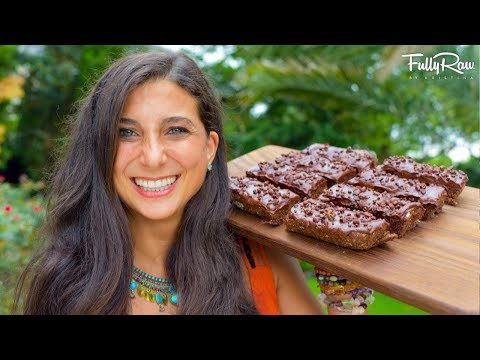 Chocolate Fudge Protein Bars | Raw Vegan  Recipe