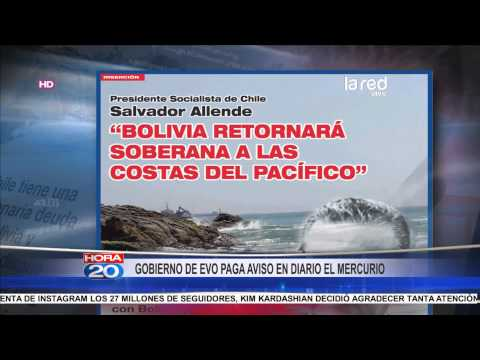 Bolivia recuerda opinión de Salvador Allende en inserto de diario