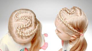 Быстрая прическа на длинные волосы Прически для девочек