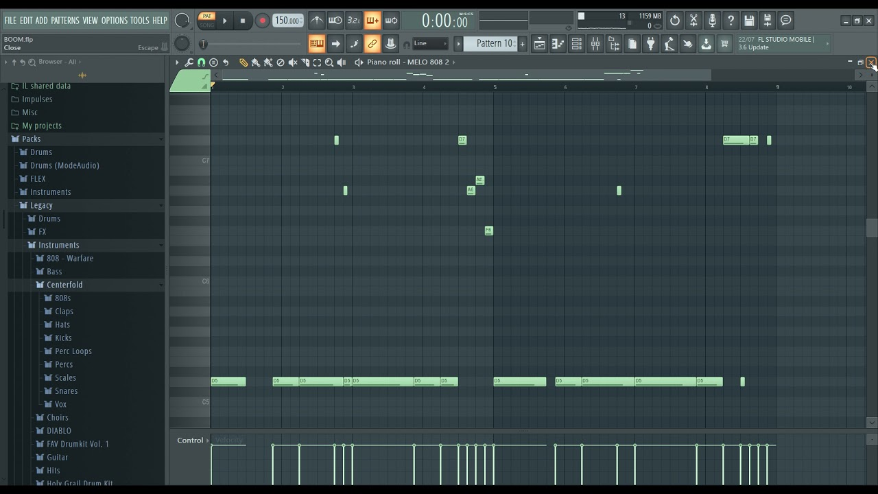 "How to make beats - Tutorial FL Studio 20 Hard Trap Beat Instrumental Rap - ""BOOM"""