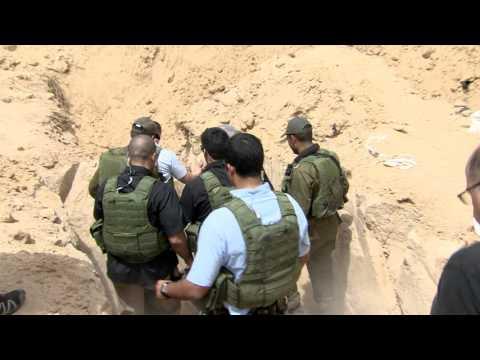 Netanyahu at Hamas Tunnel