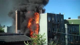 House Fire in Williamsburg, Brooklyn - Devoe St. b/t Leonard & Lorimer