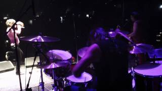 NEW YORK DOLLS DANCE LIKE A MONKEY 2011 DRUM VIEW JASON SUTTER, KENNY AARONSON