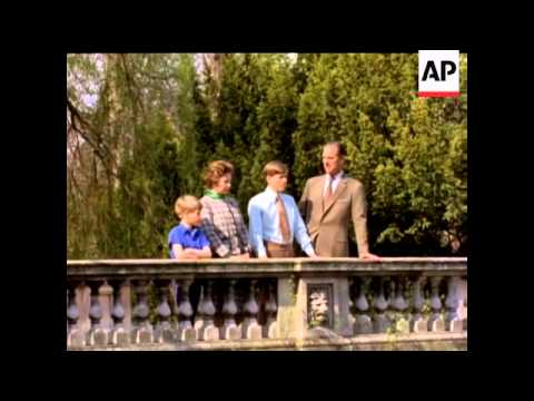 Royal Family at Frogmore - No Sound - In Colour - 1974