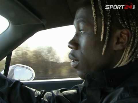En voiture avec Bacary Sagna