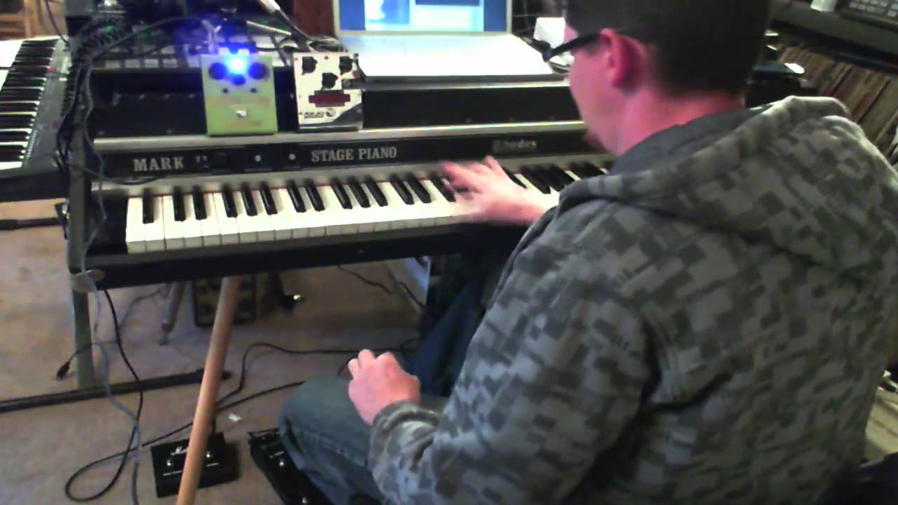Fender Rhodes Stage 88 Through Guitar Rig 5 Vox Ac4tv And Pedals