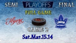 FULL GAME Leamington VS London Game #2 Semi Final Sat Mar 15 14 @Sports Centre