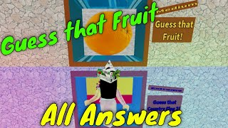 Roblox Guess That Character: Guessing All The Fruits!