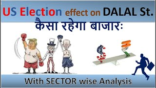 US Election Result - Effect on DALAL Street with Sector wise Analysis in Hindi