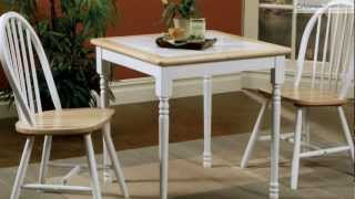 Damen Natural White Dining Room Collection From Coaster Furniture