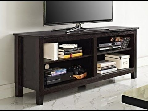 """WE Furniture 58"""" Wood TV Stand Storage Console SAVE 50% ..."""