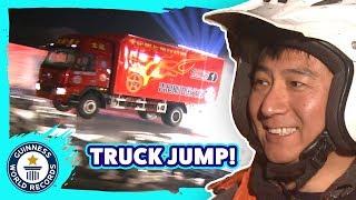 Longest truck ramp jump! - Guinness World Records