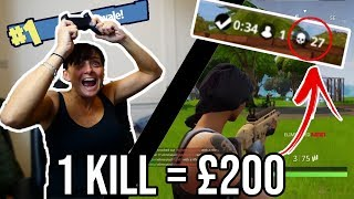 GIVING MY MOM $200 FOR EVERY KILL IN FORTNITE**I LOST A LOT OF MONEY**