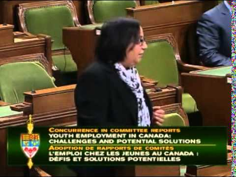 Jinny Sims in the House: Youth Employment in Canada