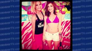 Lucy Hale & Ashley Benson Swimsuit Style with Bongo in Miami!