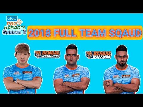 bengal-warriors-full-squad-2018-||-vivo-prokabaddi-season-6-||-by-kabaddiguru-!