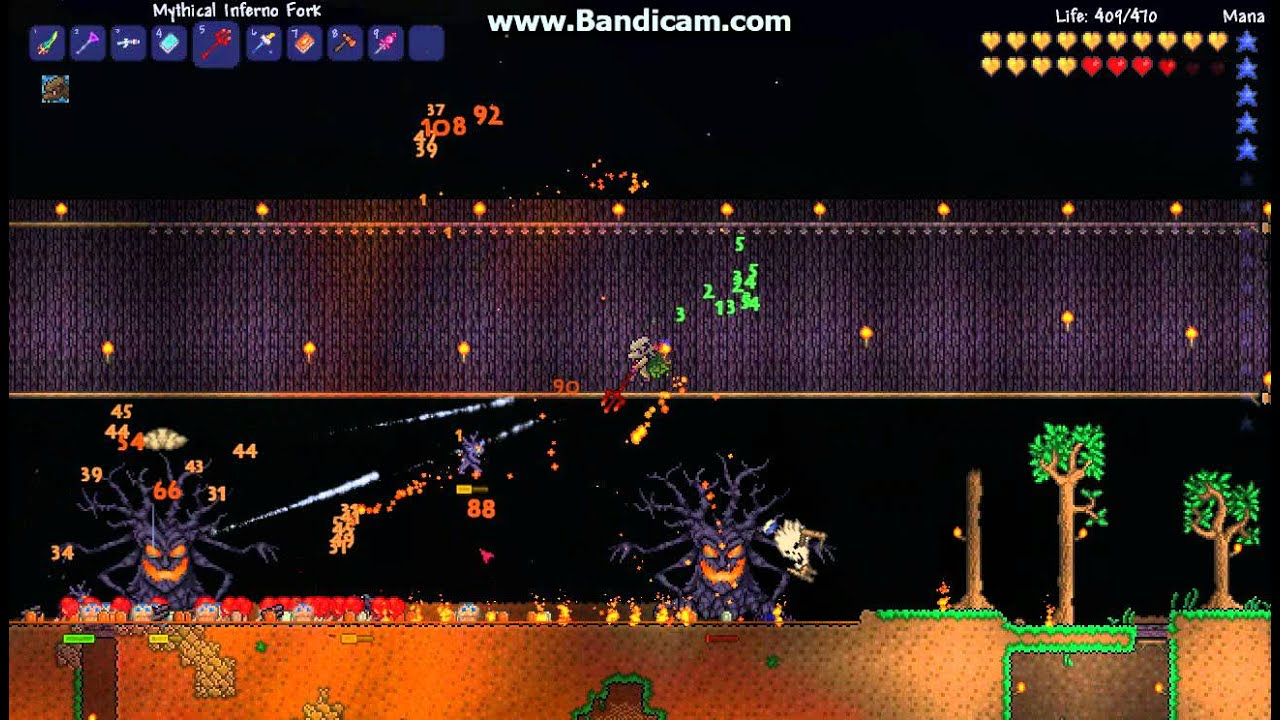 terraria halloween pumpkin moon (solo-video fixed) - youtube