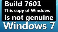 Wie man Windows 7 Build 7601 ENTFERNEN diese Kopie von Windows ist nicht echt