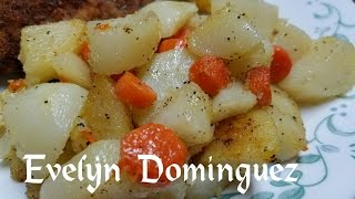 Potatoes and Carrots with Garlic Sauce