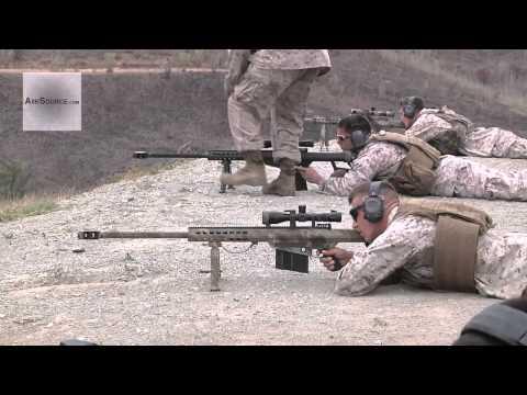 U.S. Marines Barrett M82/M107 Sniper Rifle Live Fire Range