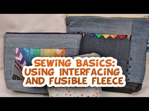Using Interfacing and Fusible Fleece- Sewing Basics - Whitney Sews