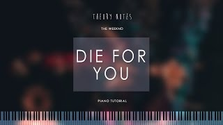 How to Play The Weeknd - Die For You | Theory Notes Piano Tutorial