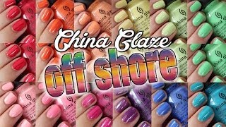 China Glaze Off Shore Summer 2014 ♥ Swatches and DUPES!