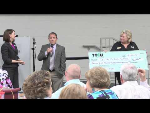 TTCU Check Presentation For The School Pride And 50/50 Programs - 07.31.15