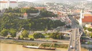 Вид на Братиславу с кафе UFO на мосту SNP(Вид на Братиславу со смотровой площадки UFO на мосту SNP Одна из лучших обзорных точек Братиславы Достопримеч..., 2014-08-09T14:05:33.000Z)